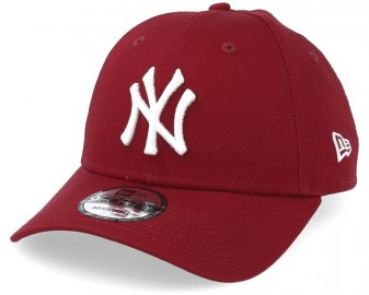 new-york-yankees-league-essential-9forty-cardinal-white-adjustable-new-era
