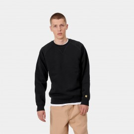 Carhartt-chase-sweat-black-gold, € 65,- XS,S,L