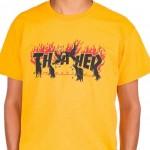 Trhasher-T-Crows-yellow-Shirt €35,- S, M,L