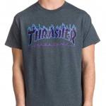 Trhasher-T-Flame-grey-Shirt €35,- S, M