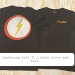 Lightning-bolt-T-cirkle-back-front-€35-. S, M, L, XL, XXL