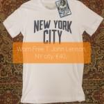 Worn Free T John Lennon NY city, €40,-
