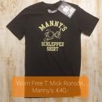Worn Free T Mick Ronson Manny's €40,-